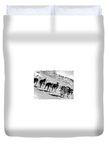 Sled Dog Duvet Cover by Mim White