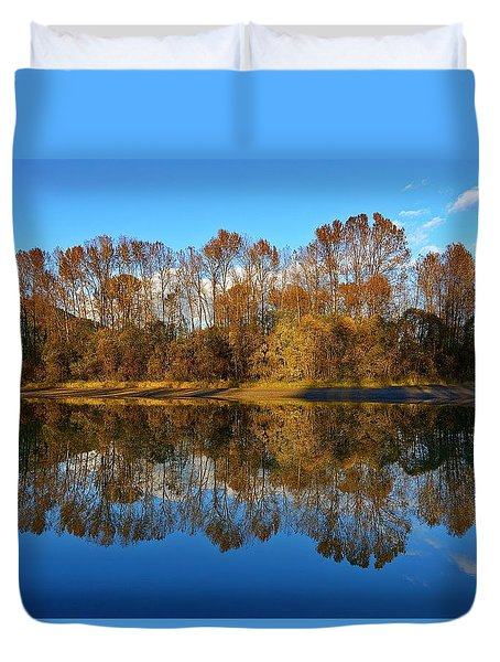 Fraser River Arm  Duvet Cover
