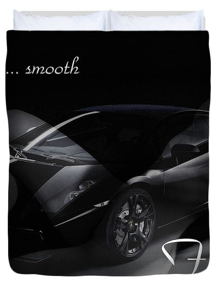 Sleek, Smooth, Fast Duvet Cover