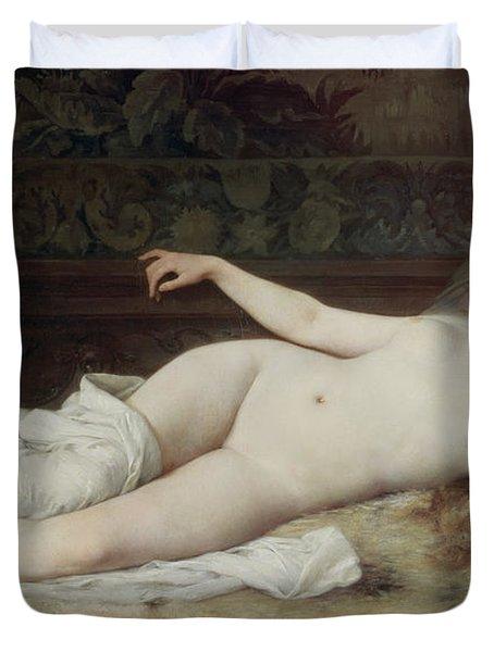 Sleep Duvet Cover by Louis Joseph Raphael Collin