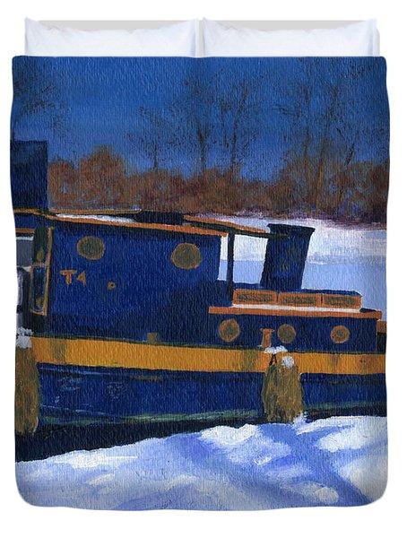 Sleeping Barge Duvet Cover