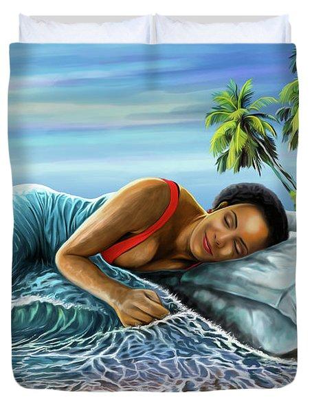 Sleeping Beauty Duvet Cover by Anthony Mwangi