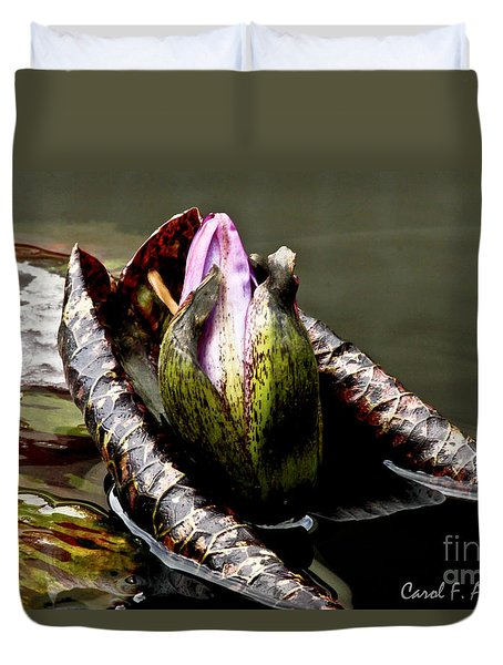Sleeping Beauty In Water Lily Pond Duvet Cover by Carol F Austin