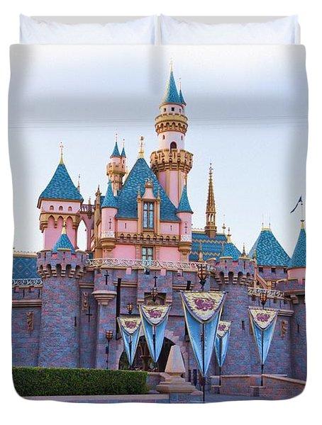 Sleeping Beauty's Castle Disneyland Duvet Cover