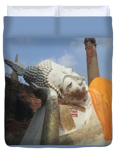 Sleeping Buddha Thailand Duvet Cover