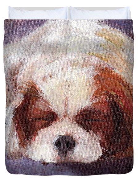 Sleeping Dog Duvet Cover