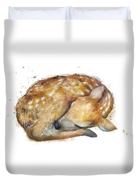 Sleeping Fawn Duvet Cover