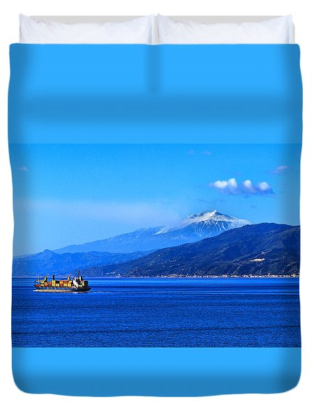 Sleeping Giant Duvet Cover by Laura Ragland