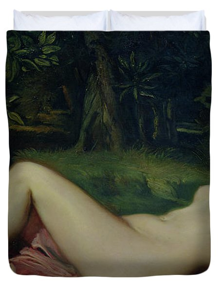 Sleeping Nymph Duvet Cover by Theodore Chasseriau