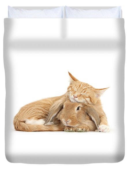 Sleeping On Bun Duvet Cover