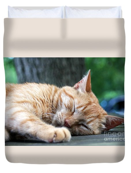 Sleeping Salem Duvet Cover