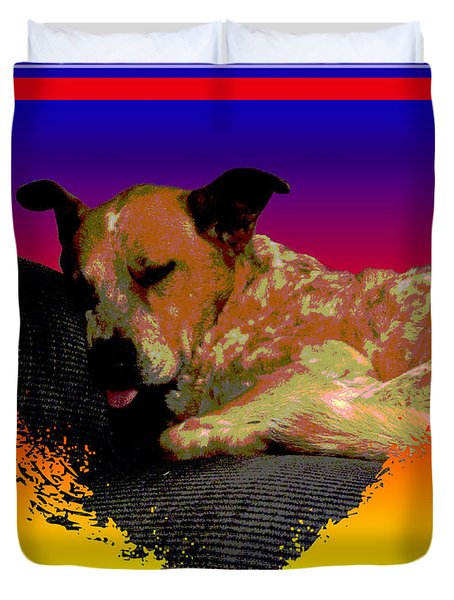 Sleeping Soundly Duvet Cover by One Rude Dawg Orcutt