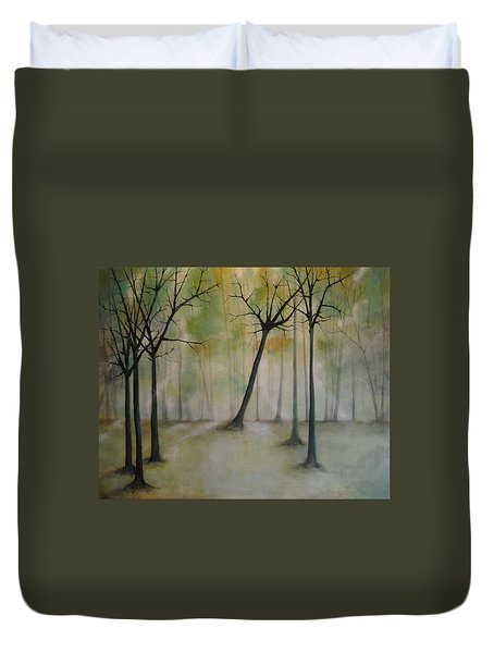 Sleeping Trees Duvet Cover by Tamara Bettencourt