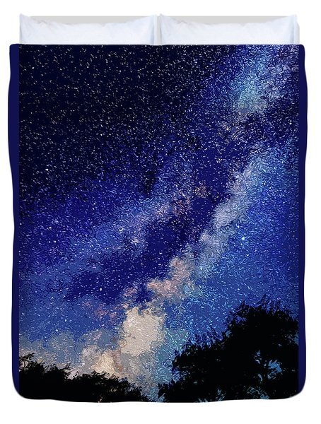 Sleeping With The Stars Duvet Cover by Andrea Mazzocchetti