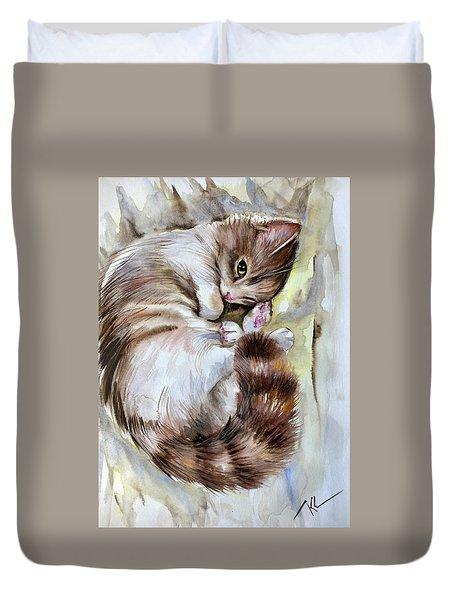 Sleepy Cat 2 Duvet Cover