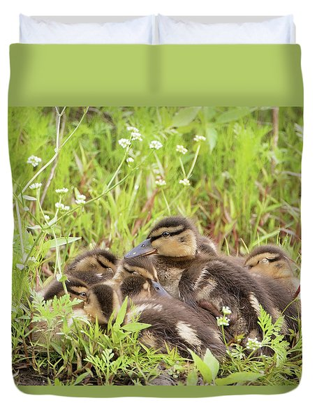 Sleepy Ducklings Duvet Cover