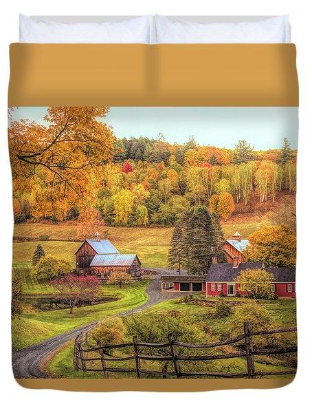 Sleepy Hollow - Pomfret Vermont In Autumn Duvet Cover