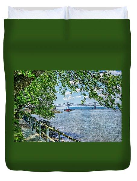 Sleepy Hollow/tarrytown Lighthouse Duvet Cover