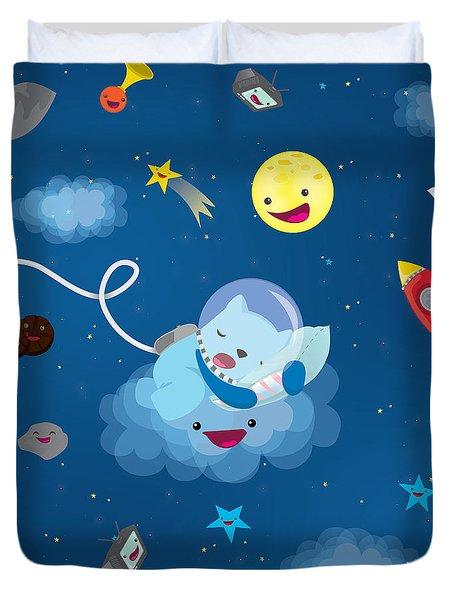 Sleepy In Space Duvet Cover