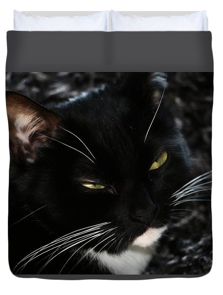 Sleepy Kitty Duvet Cover
