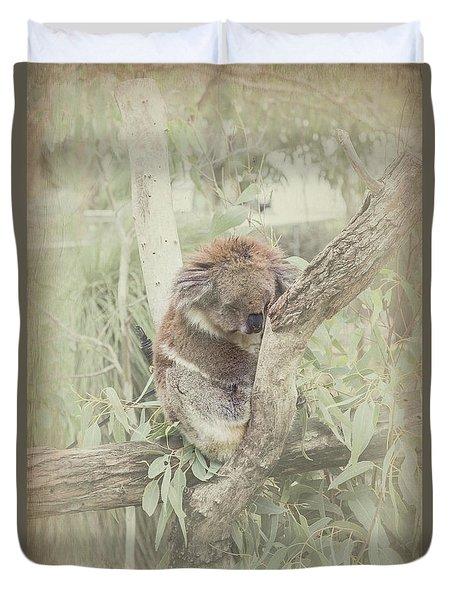 Sleepy Koala Duvet Cover