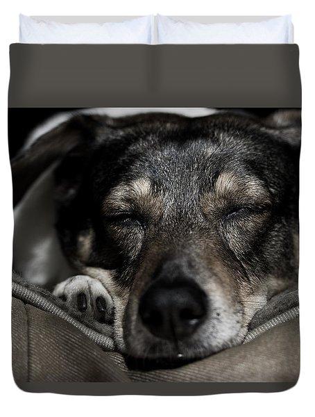 Sleepy Lil Hound Duvet Cover