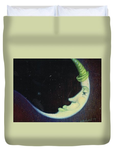 Sleepy Moon's Twin Brother Duvet Cover