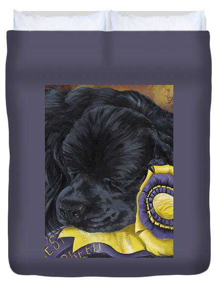Sleepy Time Spader Duvet Cover by Gilda Goodwin