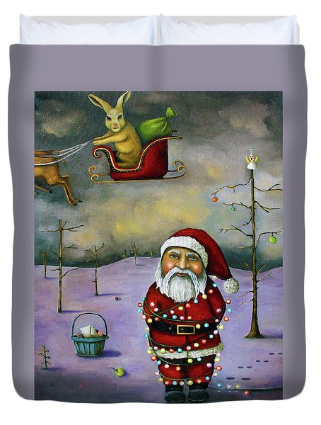 Sleigh Jacker Duvet Cover by Leah Saulnier The Painting Maniac