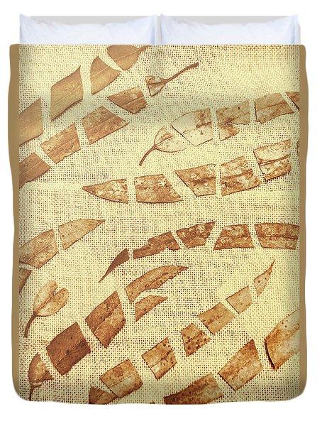 Slices Of Fall Duvet Cover