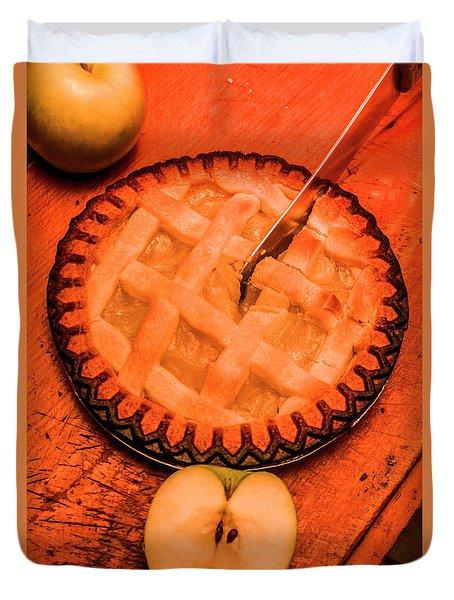 Slicing Apple Pie Duvet Cover