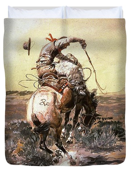 Slick Rider Duvet Cover by Charles Russell