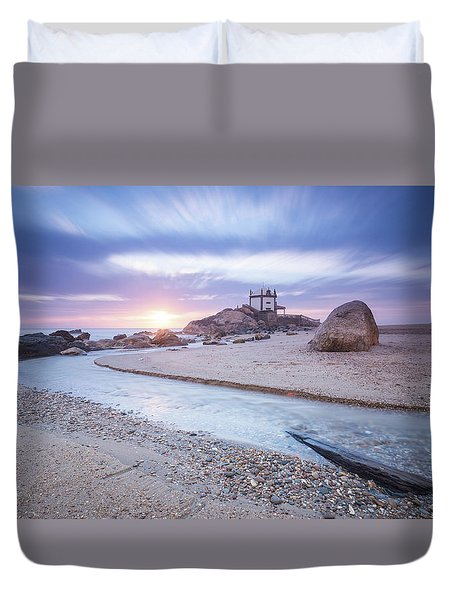 Duvet Cover featuring the photograph Sliding Into Time by Bruno Rosa