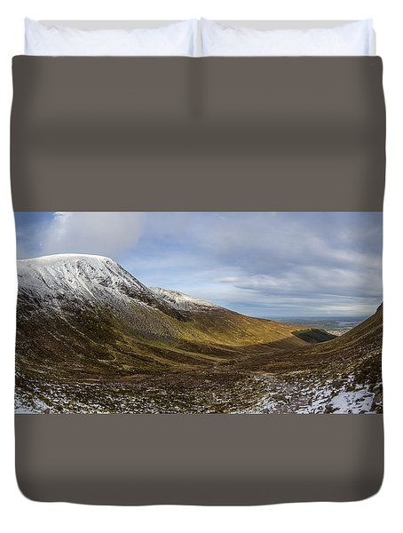 Slieve Commedagh And Slieve Donard Panorama From The Assent  Duvet Cover