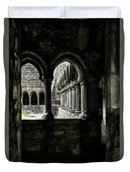 Duvet Cover featuring the photograph Sligo Abbey Interior by RicardMN Photography
