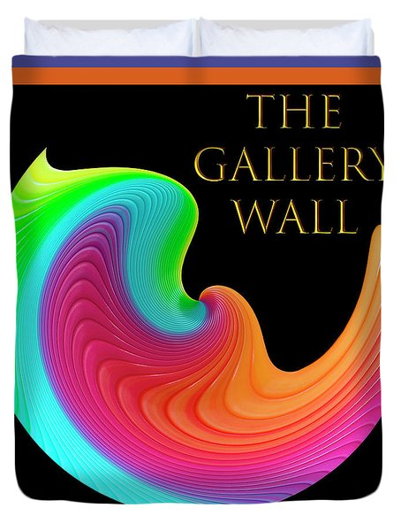 Duvet Cover featuring the photograph Slinky Dove Of Peace-the Gallery Wall Logo by Wendy Wilton