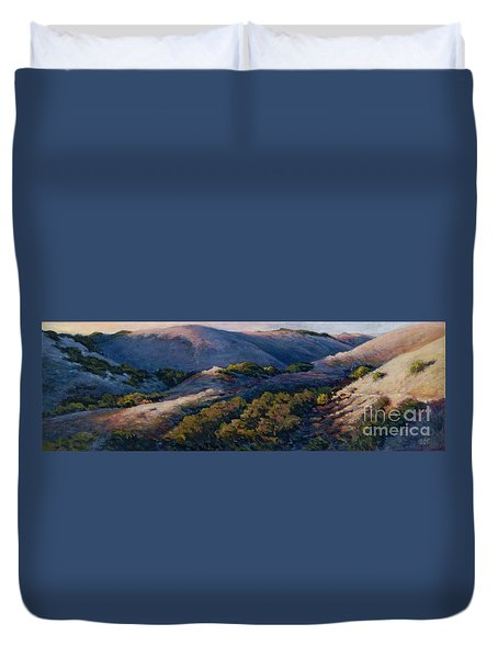 Slipping Into Night Duvet Cover
