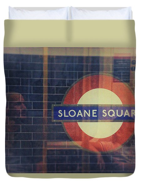 Sloane Square Portrait Duvet Cover