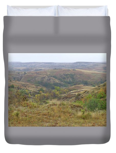 Slope County In The Rain Duvet Cover