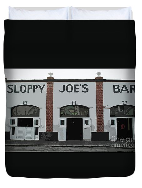 Duvet Cover featuring the photograph Sloppy Joes Bar by Jost Houk