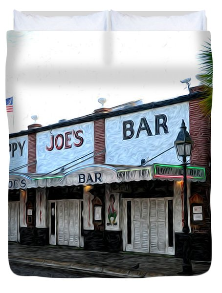 Sloppy Joe's Bar Key West Duvet Cover by Bill Cannon