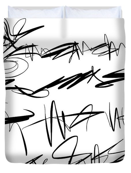 Sloppy Writing Duvet Cover