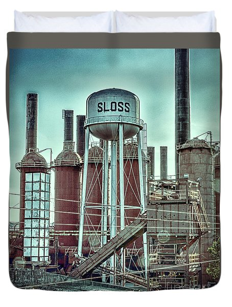 Sloss Furnaces Tower 3 Duvet Cover