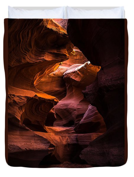 Slot Canyon Red Duvet Cover