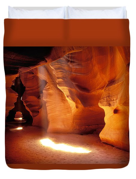 Slot Canyon Warm Light Duvet Cover by Garry Gay