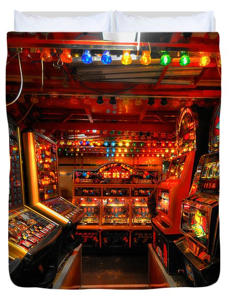 Slot Machines Duvet Cover