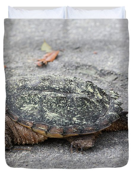 Slow Crossing 3 March 2018 Duvet Cover