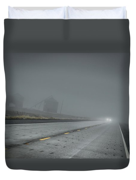 Slow Drive Home Duvet Cover