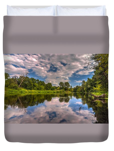 Slow River Reflections Duvet Cover