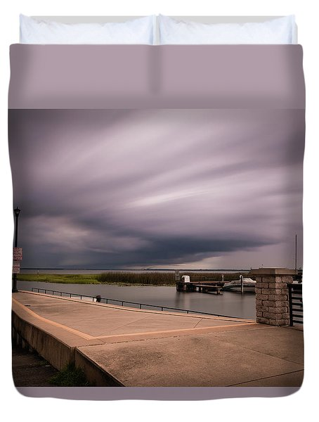 Slow Summer Storm Duvet Cover